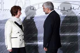 Catherin Eshton und Saeed Jalili - Foto: tabnak.ir