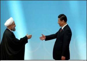 Irans Präsident, Hassan Rouhani (li.) und sein chinesischer Amtskollege Xi Jinping
