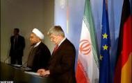 Rouhani und Ex-Bundesaußenminister Joschka Fischer (Die Grünen) - Foto: www.mehrnews.com