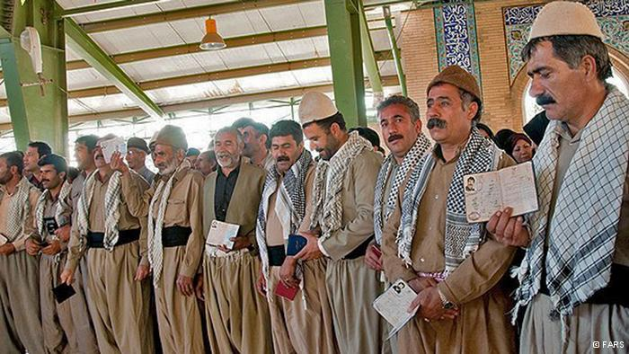 Ein Wahllokal in der Stadt Kermanschah.