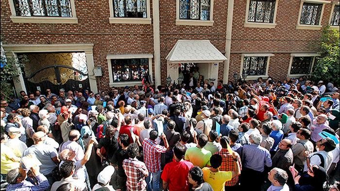 Filmschaffende haben immer wieder gegen das Verbot des HdK protestiert, wie hier auf dem Foto - 18 Juni 2013