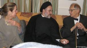 Richard Frye (re.) neben dem Ex-Präsidenten Mohammad Khatami