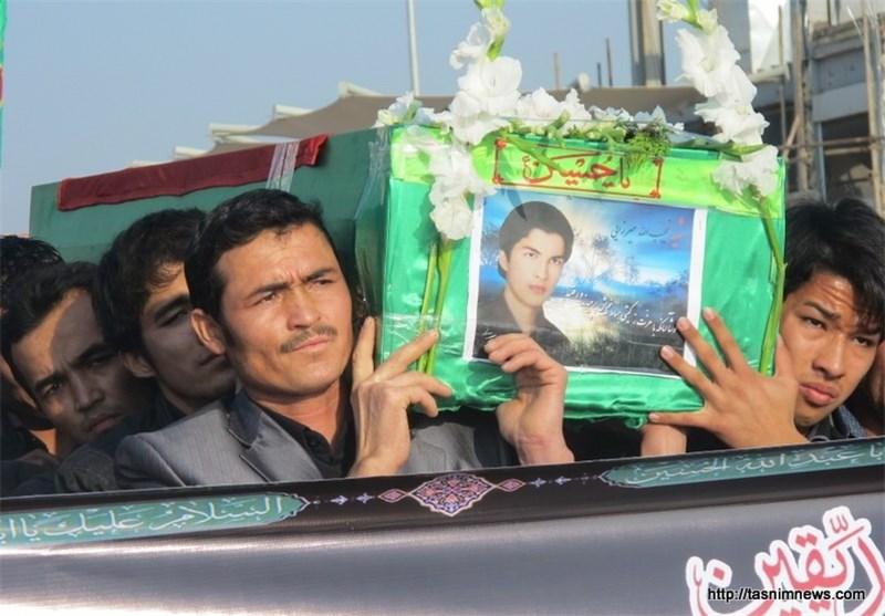 Begräbnis von zwei in Syrien gefallenen afghanischen Flüchtlingen in der iranischen Stadt Ghom
