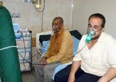 Stationäre Behandlung wegen Atembeschwerden in Ahvaz