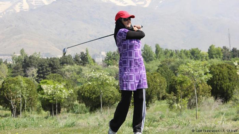 Nicht nur in der Bildung und Verwaltung des Landes, sondern auch im Sport wollen iranische Frauen den Männern nicht nachstehen. Das Golfspielen war bis Anfang dieses Jahrhunderts eine reine Männerdomäne, doch das Spiel wurde in den letzten Jahren bei den iranischen Frauen zunehmend beliebter. In Fast allen 31 Provinzen des Landes gibt es Damen Golfteams. Seit 2011 gibt es die iranische Golf Damenliga. Das Golfspiel kam mit den Europäern, die Anfang des 20. Jahrhunderts in der iranischen Ölindustrie arbeiteten, in den Iran.