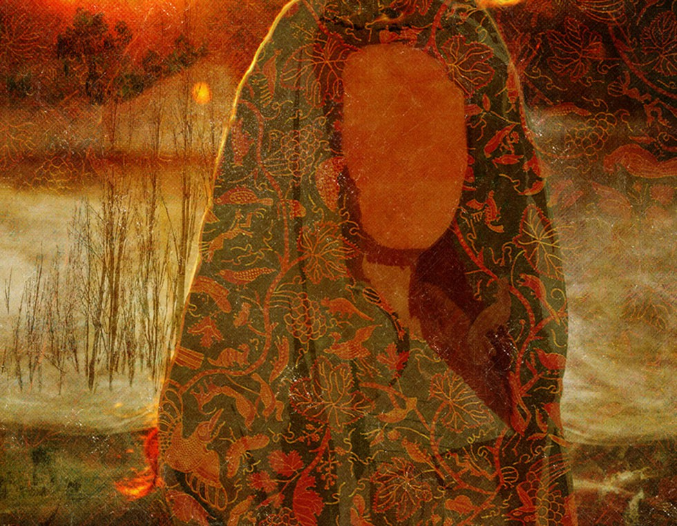 """""""Mary claws"""", 2011 - 195 x 130 cm - Digital Painting Shervin Pashaie.jp Shervin Pashaie war 17 Jahre alt und Absolvent der Kunstschule, als im Sommer 1999 die Studentenunruhen in Teheran begannen. Bei den Protesten wurde er verhaftet und kam nach knapp zwei Wochen frei. Im selben Jahr gestaltete er seinen ersten nackten Frauenkörper aus Lehm."""