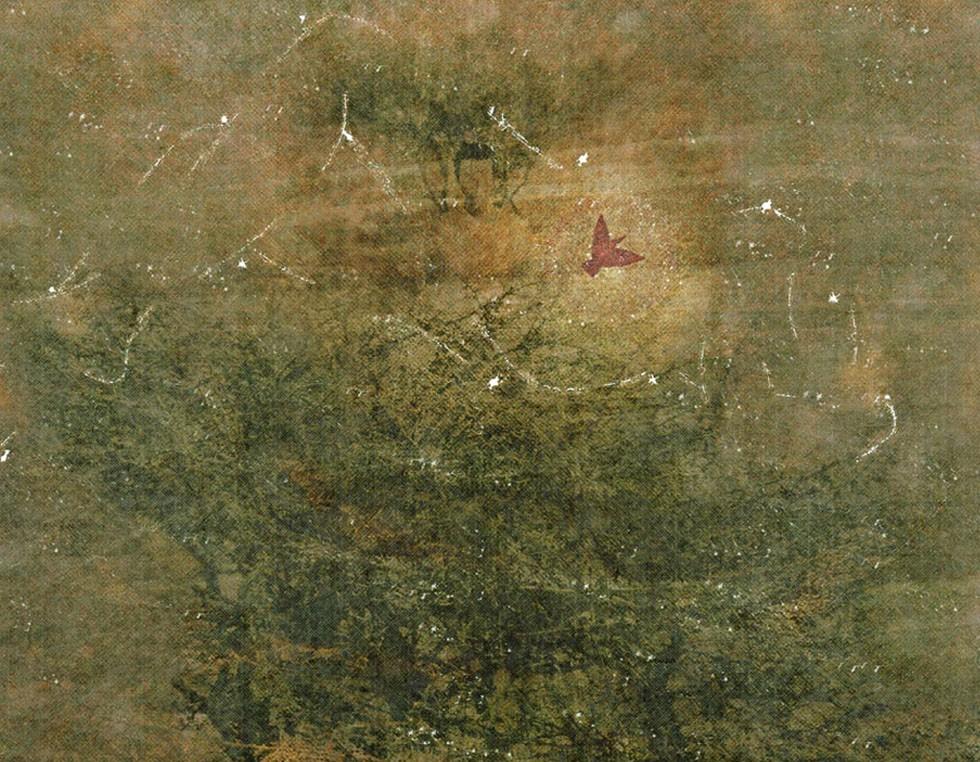 """""""The Last Raspee and the Expectant Creation of the Freedom Bird"""", 2011, 90 x 130 cm - Digital Painting 2006 veröffentlichte Pashaie als Zeichner zusammen mit dem iranischen Autor Sirous Sarrafha ein Buch über die Geschichte des Industriedesigns, das als Nachschlagewerk für Studierende der iranischen Kunstakademien verwendet wird. Obwohl er immer wieder in renommierten Teheraner Galerien ausstellte, wurden seine Werke und Performances zeitweise verboten."""