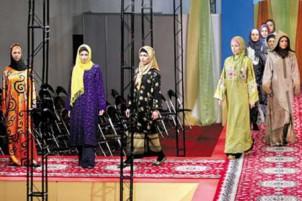 Von der Regierung organisierten Modeshow