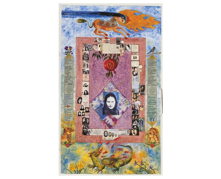 Gizella Varga Sinai ist 1944 in Ungarn geboren und aufgewachsen. Sie studierte Malerei an der Akademie für angewandte Kunst in Wien. Hier lernte sie ihren zukünftigen Ehemann Khosro Sinai aus dem Iran kennen, der Musik und Filmregie studierte.