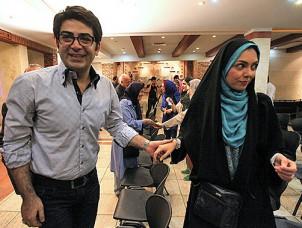 Azadeh Namdari mit ihrem Ex-Mann Farzad Hassani in Teheran.