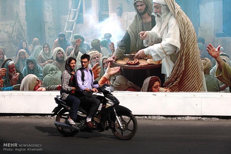 Vielerorts in der iranischen Hauptstadt Teheran sieht man derzeit überdimensionale Plakate für den Film!