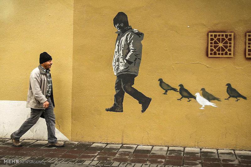 Wandmalerei wird in Teheran immer beliebter.