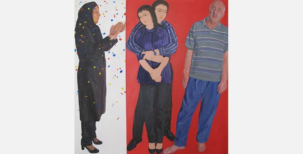 """""""Verliebt sein in Isfahan"""", aus der Reihe """"Warme familiäre Atmosphäre"""", 150 x 150 cm"""