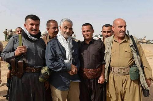 General Soleimani bei einem Besuch in der autonomen Region Kurdistan im Irak