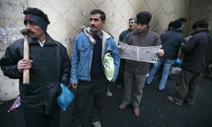 Arbeitssuchende in Teheran