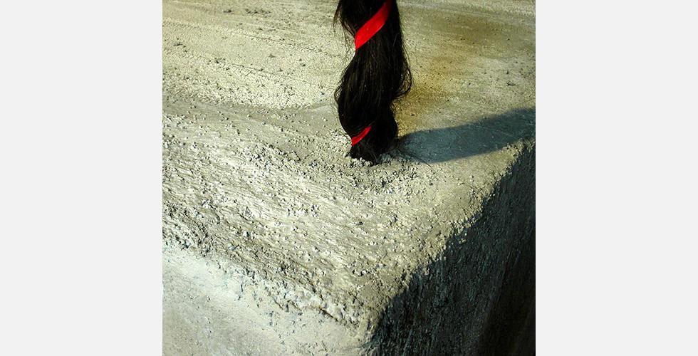"""""""Chelgis II"""", Installation, Mandana Moghaddam, La Biennale di Venezia (Detail), 2005 Chelgis ist der Name einer iranischen Heroine in der persischen Folklore. Sie tritt in der Geschichte als eine Frau auf, deren äußere Schönheit nur von ihrer Intelligenz, Klugheit und Unabhängigkeit übertroffen wird. Ihr Name bedeutet wörtlich """"Besitzerin der 40 Locken""""."""