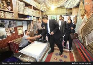 Sigmar Gabriel im Isfahans Bazar
