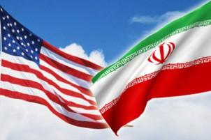 USA Iran flagge