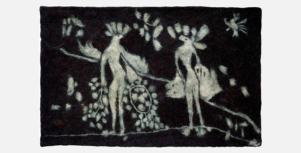 """""""Adam und Eva"""", Filz, 200x120cm, 1996-98"""