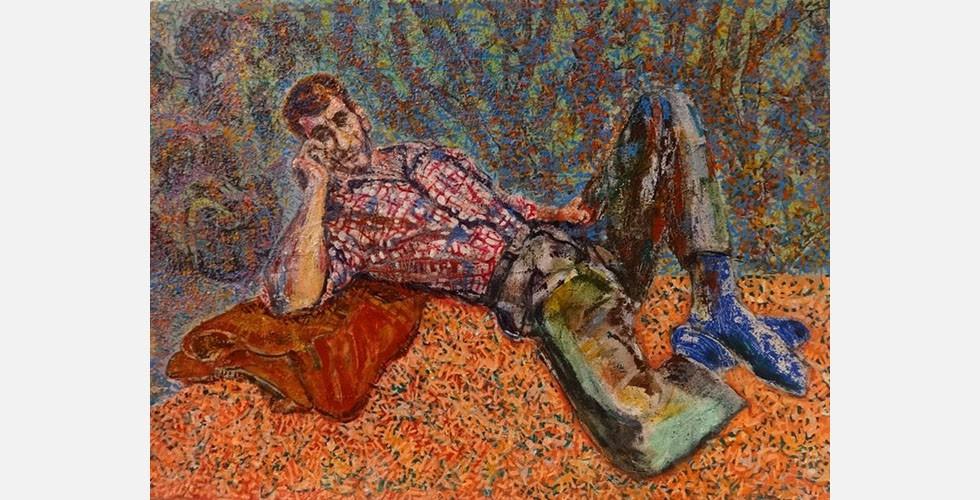 """""""Ohne Titel"""", Acryl auf Leinwand, 74×50cm, 2015"""