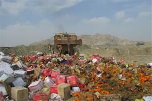 Die Vernichtung der beschlagnahmten Schmuggelware in der Provinz Khorasan