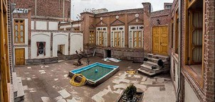 Ein traditionelles, städtisches Haus in Tabriz