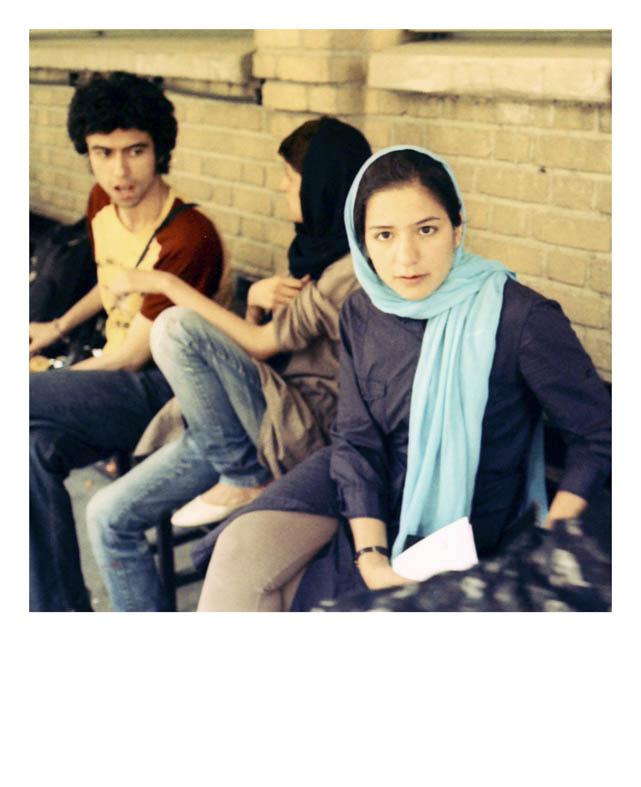 Autobiography, From portrait series, 2011, 15 x 15 cm, Slide film 135mm Mirzai selbst schreibt sich auf eine unmerkliche Weise aus seinen Fotografien, auch aus seinem eigenen Blick hinaus, er ist beides gleichzeitig, abwesend wie auch anwesend.
