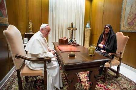 Shahindokht Molaverdi bei Papst Franziskus, Februar 2014 - Foto: isna.ir
