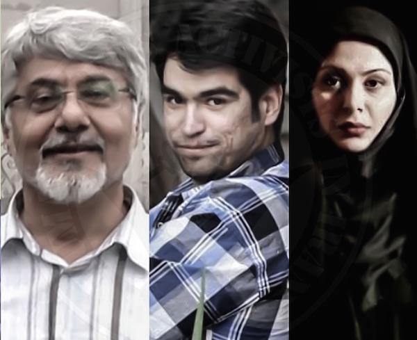 Afarin Chitsaz , Ehsan Mazandarani und Issa Saharkhiz (von re.)