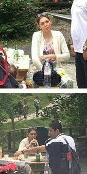 Die Vorzeigefrau des iranischen Fernsehens in Sachen islamischer Kleidung, Azadeh Namdari, während des Urlaubs in der Schweiz