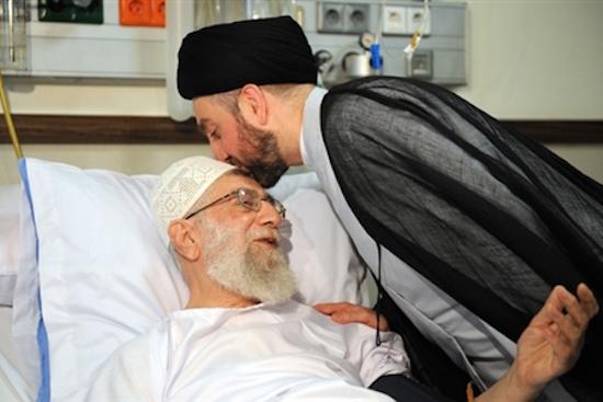 """""""Goldene Zeiten"""": Iraks Schiitenführer Ammar al-Hakim besucht Irans Revolutionsführer Ali Khamenei im Krankenhaus Teheraner (September 2014)"""