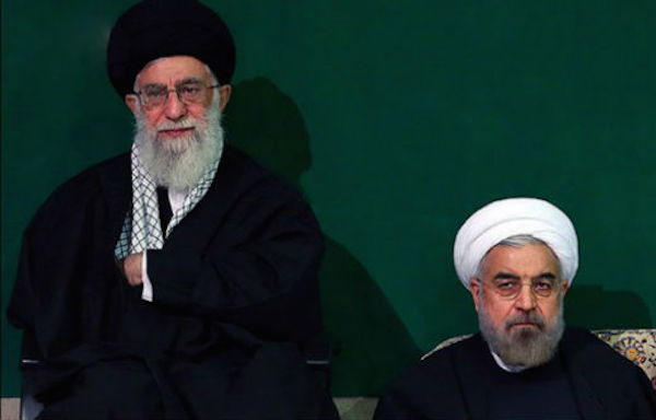Präsident Rouhani (re.) und Staatsoberhaupt Ali Khamenei