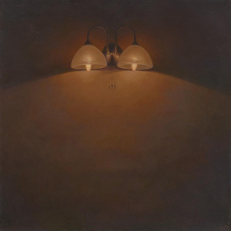 """""""A Homage to Georges de La Tour"""", Oil on canvas"""", 102 x 102 cm, 2014 Iman Afsarian hatte zahlreiche Einzel- und Gruppenausstellungen unter anderem in den USA, Großbritannien, Österreich und Russland. Seine Werke finden sich in angesehenen Sammlungen. Afsarian ist Autor des zweibändigen Buches """"The Quest For A New Age"""", das 2016 in persischer Sprache erschien. Er ist zudem Herausgeber, Artdirector und Autor des Magazins """"Herfeh: Honarmand (Profession: Artist)"""", das seit 2003 vierteljährlich im Iran erscheint. Auswahl und Text: Christoph Sehl - sehl@iranjournal.org."""