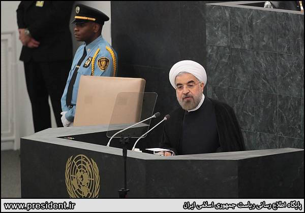 Hassan Rouhani bei seiner Rede vor der UN-Vollversammlung