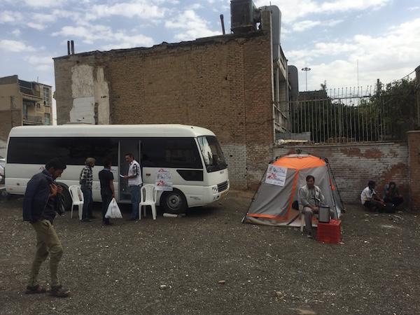 """""""Ärzte ohne Grenzen"""" im Süden der iranischen Hauptstadt Teheran - Coparight MSF"""