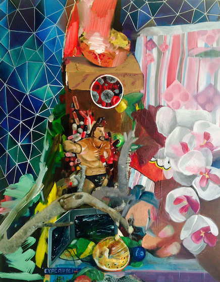 The Case, 45cm x 40cm, oil on canvas, 2016 Myriam Quiel gehört zu den wenigen KünstlerInnen, bei denen der Transfer vom 'Westen' in den Iran stattgefunden hat. Sie beteiligte sich an einigen Gruppenausstellungen und zeigte ihre Arbeiten in Einzelausstellungen in prominenten Teheraner Galerien. Parallel dazu entwickelte sie in Teheran eine Produktivität, die in quantitativer und vor allem qualitativer Hinsicht beachtlich ist.