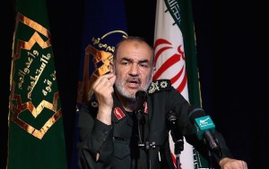 General Hossein Salami, Vizechef der iranischen Revolutionsgarde, drohte Israel mit Raketenagriffen