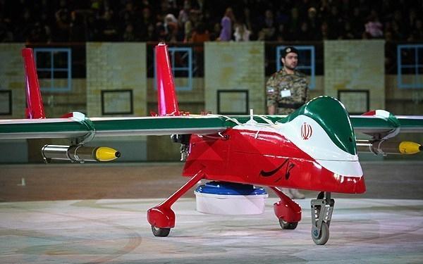 Eine iranische Drohne, hergestellt von der heimischen Industrie