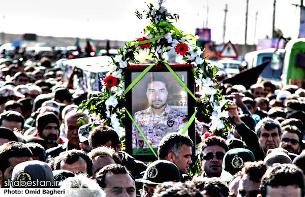 Beerdigung eines im Syrienkrieg gefallenen iranischen Revolutionsgardisten