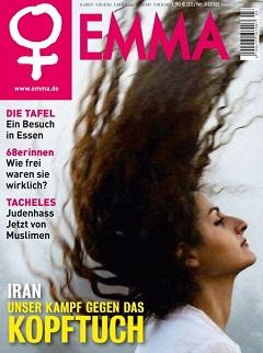 Die Zeitschrift EMMA beschäftigt sich in ihren Ausgaben von Mai und Juni 2018 mit der Antikopftuch-Kampagne im Iran