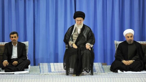 Revolutionsführer Ali Khamenei und seine Präsidenten