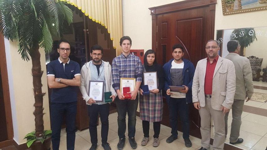 Bei einem internationalen Mathematik-Wettbewerb in Usbekistan sicherten sich eine Iranerin und drei Iraner die heißbegehrten Medaillen. Bei dem Wettkampf, an dem 57 Teams aus 22 Ländern teilnahmen, gewannen Vahid Shahverdi )Gold(, Mehdi Hagh-Shenas )Silber(, Fatemeh Arfai ) Bronze( und Mohammad Esmaili )Bronze(. Sie alle sind Studenten der technischen Universität Amirkabir in Teheran.