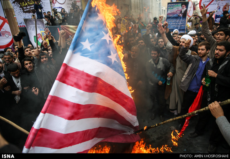 Gängige Praxis bei den antiamerikanischen Demonstrationen im Iran