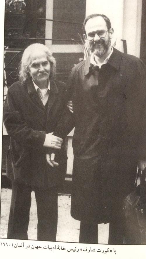 Kurt Scharf (re.) mit dem verstorbenen iranischen Dichter Mehdi Akhavan-Sales