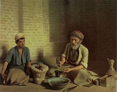 """""""Goldschmiede von Baghdad"""", von Kalmal al-Molk, 1901"""