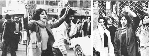 Frauen haben aktiv an der iranischen Revolution teilgenommen