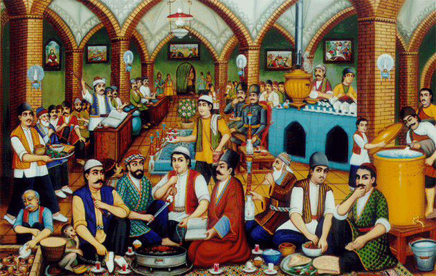 Ein traditionelles iranisches Teehaus