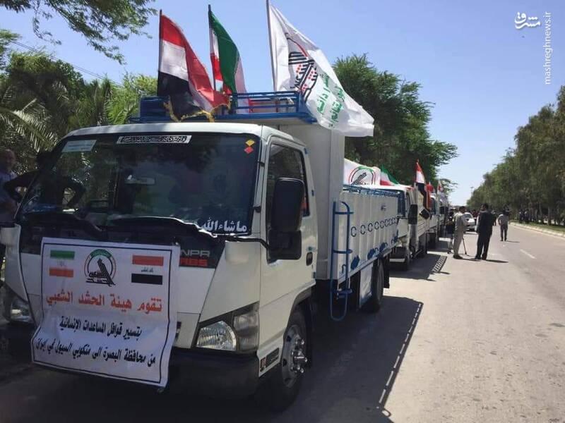 Die Auto-Kolonne der irakischen Milizi Haschd asch-Schaʿbi in der iranischen Stadt Ahvaz
