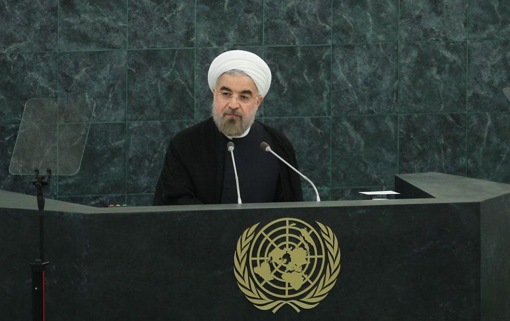 """Präsident Rouhani bei hat in seiner Rede vor der 72. Generalversammlung der Vereinten Nationen in New York: """"Drohungen sind inakzeptabel"""" - Foto: irna.ir"""