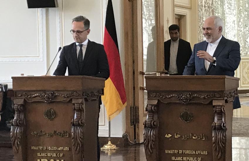 Bundesaußenminister Heiko Maas und sein iranischer Amtskollege M. Javad Zarif beantworten die Fragen der Journalisten in Teheran - Foto: irdiplomacy.ir